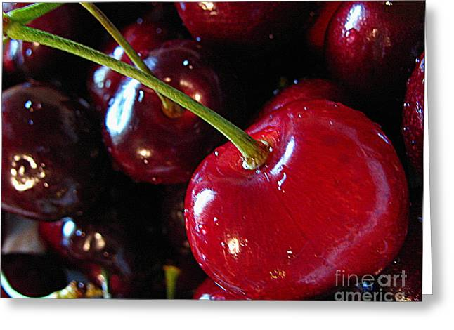 Life's A Bowl Of Cherries Greeting Card by Colleen Kammerer
