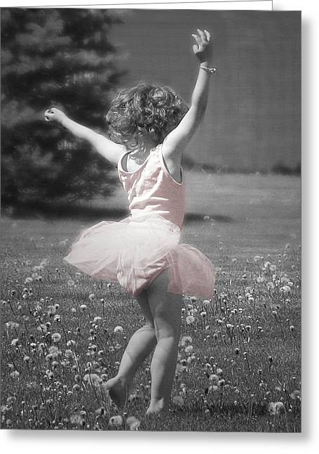 Childhood Greeting Cards - Lifes a Dance Greeting Card by Cindy Singleton