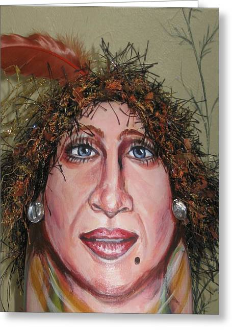 Drag Mixed Media Greeting Cards - Lifes A Drag Greeting Card by Cathi Doherty