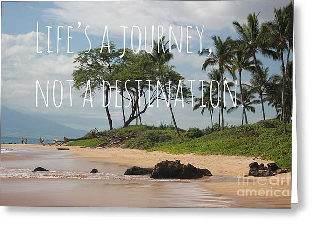 Greeting Card featuring the mixed media Life's A Journey by Wilko Van de Kamp