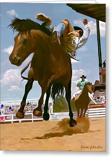 Life's Ride Greeting Card by Karen Johnston