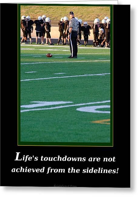Life's Touchdowns Greeting Card
