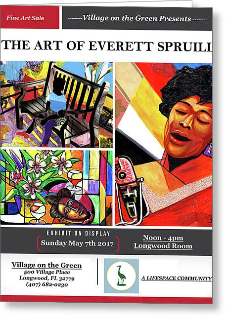 Lifespace Exhibition Poster Greeting Card by Everett Spruill