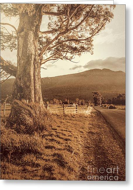 Liffey Vintage Rural Landscape Greeting Card by Jorgo Photography - Wall Art Gallery
