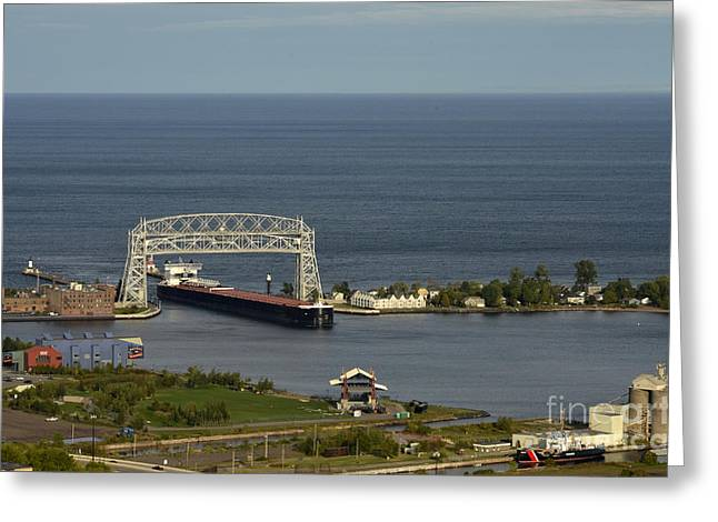Lift Bridge Greeting Card by Whispering Feather Gallery