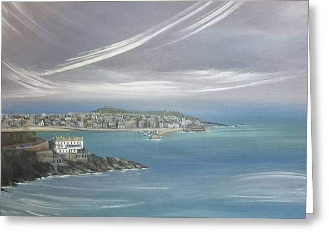 Lifting Fog, St.ives  Greeting Card