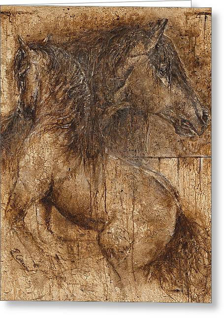 Lifting My Spirit- Spirit Of Life Greeting Card by Paula Collewijn -  The Art of Horses