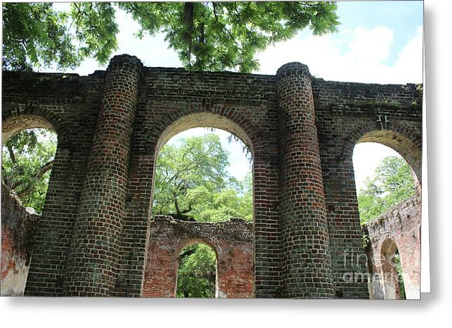 Light Above The Ruins Greeting Card by Carol Groenen