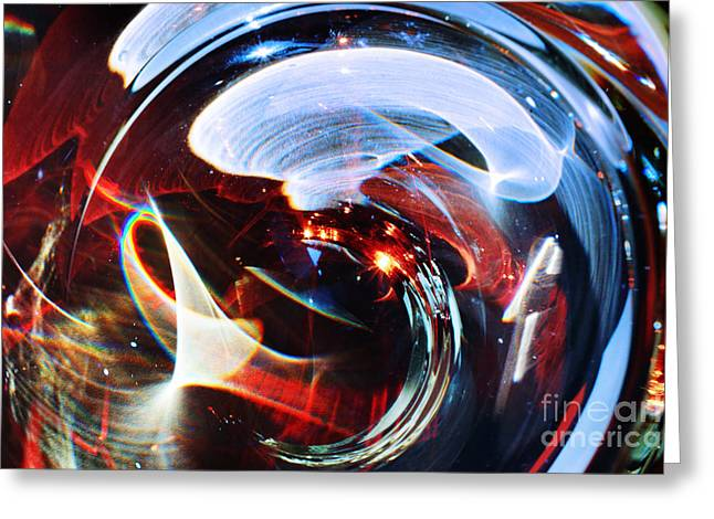 Light Abstraction On Paper Greeting Card by Elena Lir-Rachkovskaya