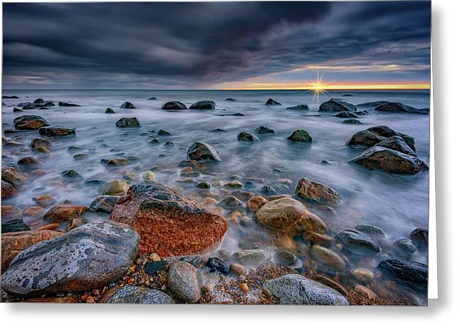Light And Dark At Montauk Point Greeting Card