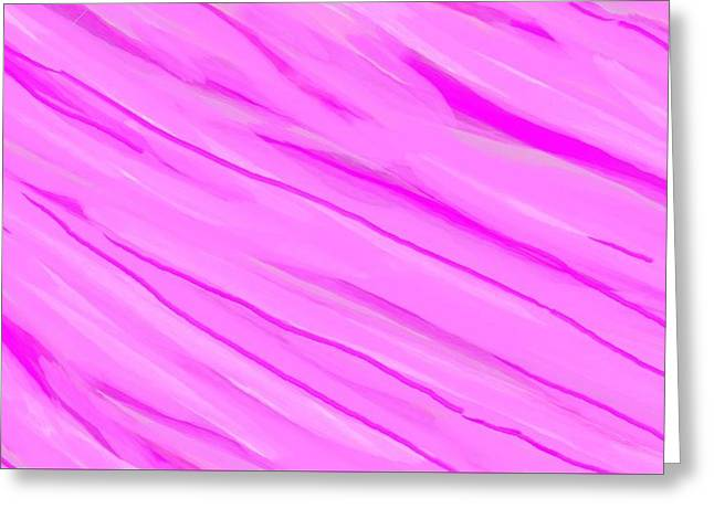 Light And Dark Pink Swirl Greeting Card