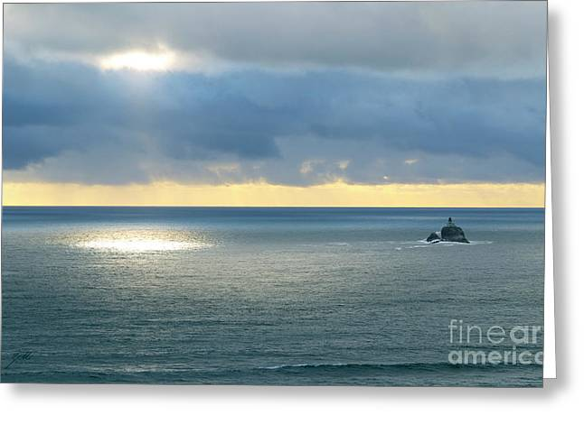 Greeting Card featuring the photograph Light And Lighthouse by Suzette Kallen