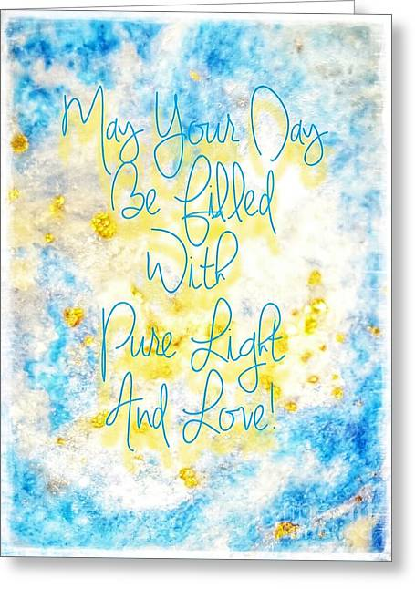 Light And Love Greeting Card