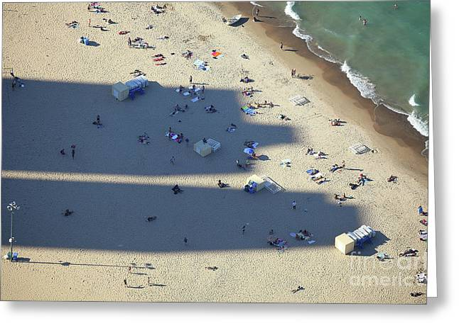 Light And Shadows On The Beach Greeting Card by Holger Ostwald