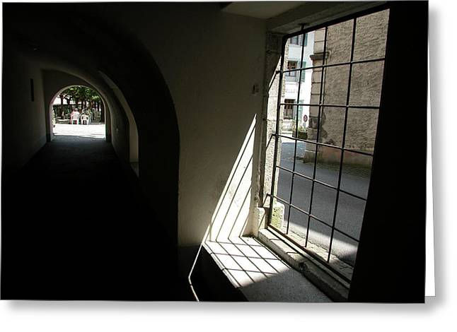 Greeting Card featuring the photograph Light At The End Of The Tunnel by Carl Purcell