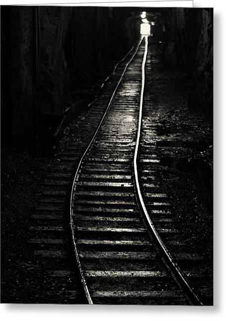 Light At The End Of The Tunnel Greeting Card by Naman Imagery