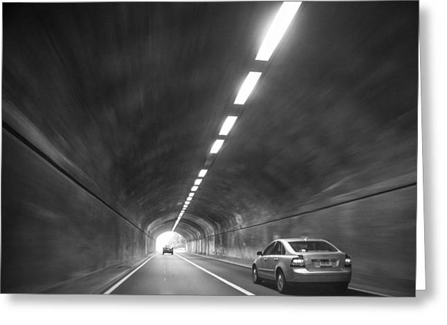 Light At The End Of The Tunnel Greeting Card by Karol Livote