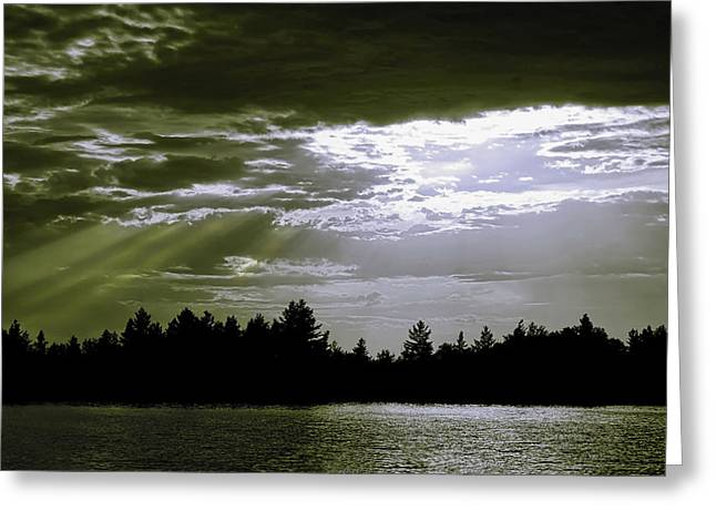 Light Blast In Evening Greeting Card