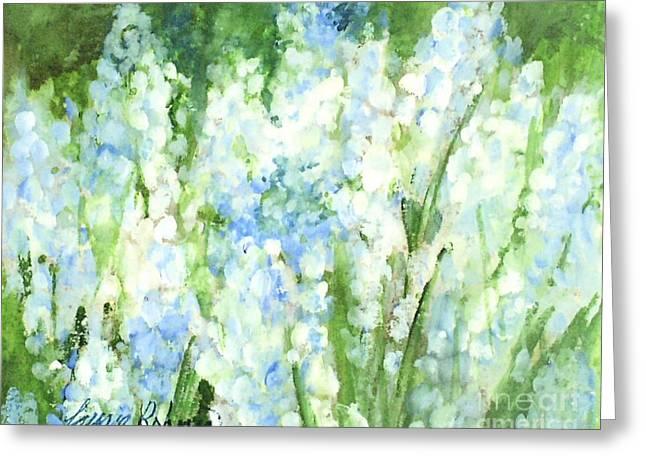 Light Blue Grape Hyacinth. Greeting Card