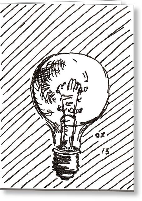 Light Bulb 1 2015 - Aceo Greeting Card