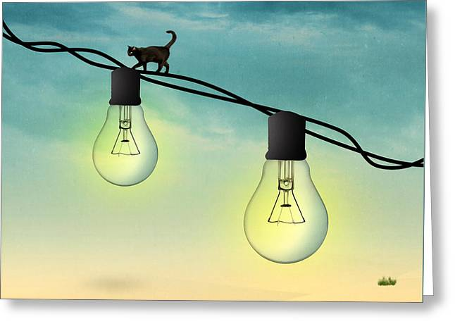 Light Bulb Greeting Card by Mark Ashkenazi