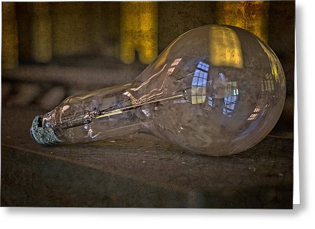Light Bulb Greeting Card by Susan Candelario