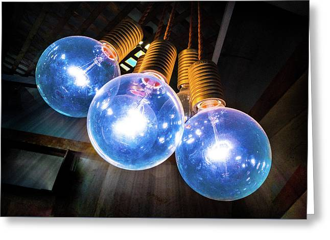 Light Bulbs Greeting Card