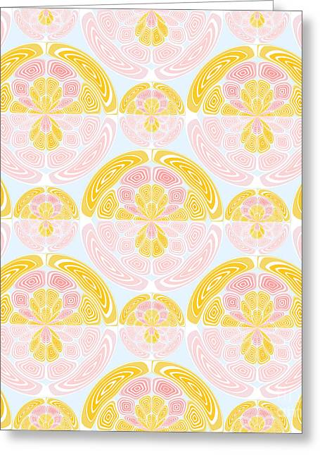 Light Colored Pattern Greeting Card by Gaspar Avila