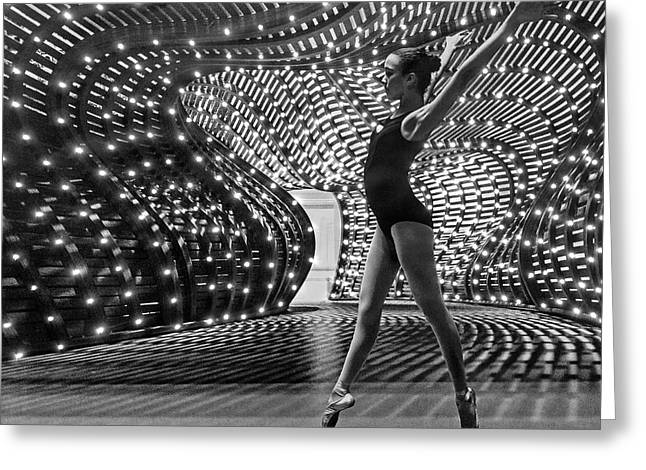 Greeting Card featuring the photograph Light Dance by Alan Raasch