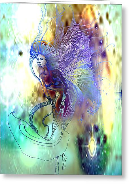Greeting Card featuring the painting Light Dancer by Ragen Mendenhall
