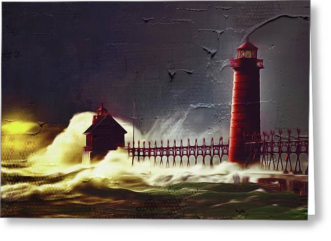 Light House 07 Greeting Card by Gull G