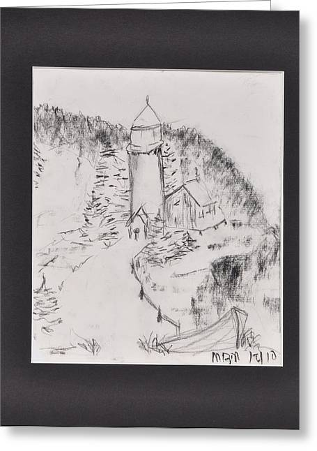 Light House Greeting Card by MaryBeth Minton
