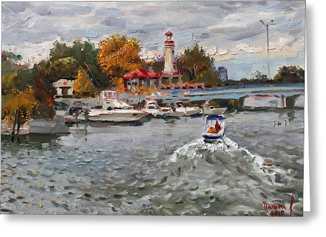 Light House Mississauga Greeting Card by Ylli Haruni