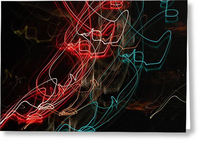 Light In Motion Greeting Card by David Lane