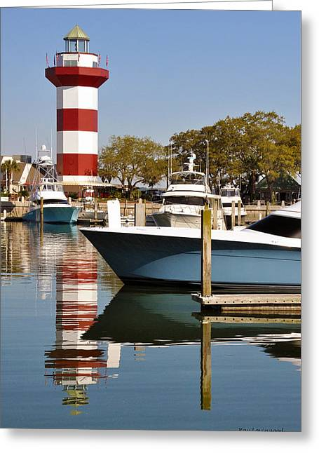 Light In The Harbor Greeting Card