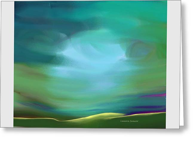 Light In The Storm Greeting Card by Lenore Senior