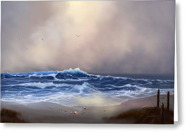 Light In The Storm Greeting Card by Sena Wilson