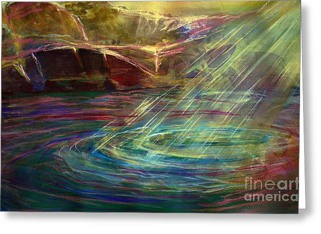 Light In Water Greeting Card