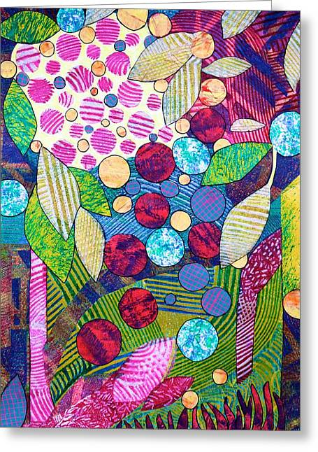 Light Infused Forest Greeting Card