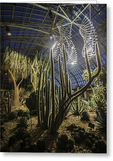 Light Installation In The Desert Greeting Card