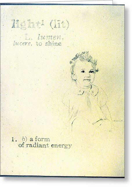 Light Greeting Card by Janice Crow