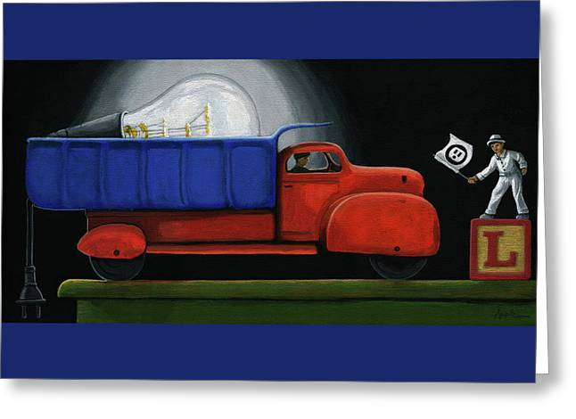Light Load - Narrative Painting Greeting Card by Linda Apple