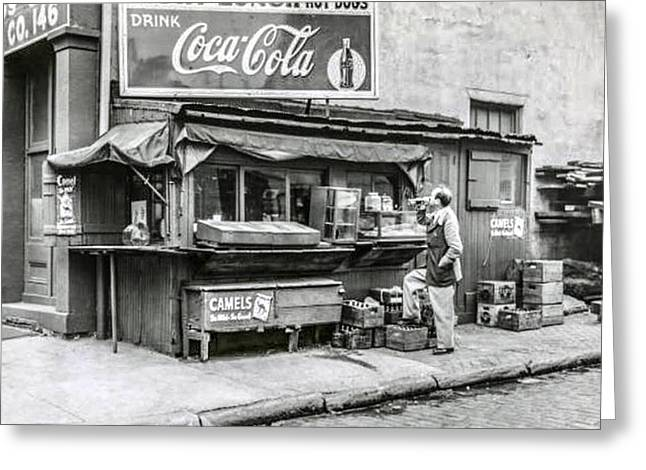 Light Lunch - Hot Dogs - Coca Cola Greeting Card