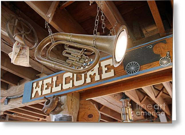 Light Music Greeting Card by Steve Gass