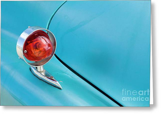 Light Of A Classic American Car Greeting Card by Sami Sarkis