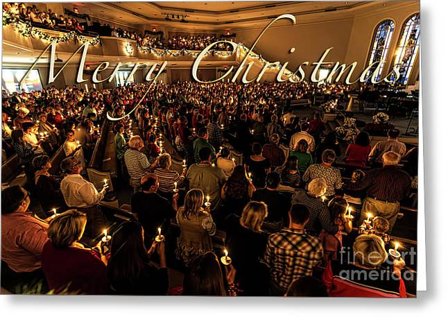 Greeting Card featuring the photograph Light Of Christmas by Anthony Baatz