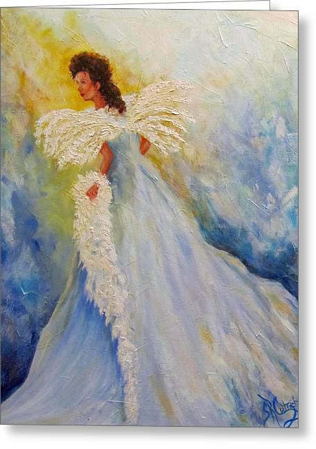 Light Of Grace,angel Greeting Card