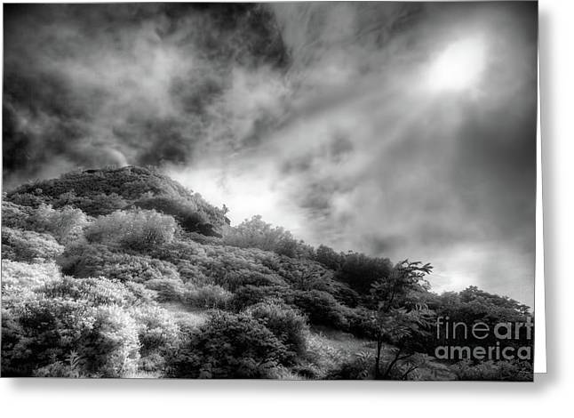 Greeting Card featuring the photograph Light Of Hope On Craggy Dome by Dan Carmichael