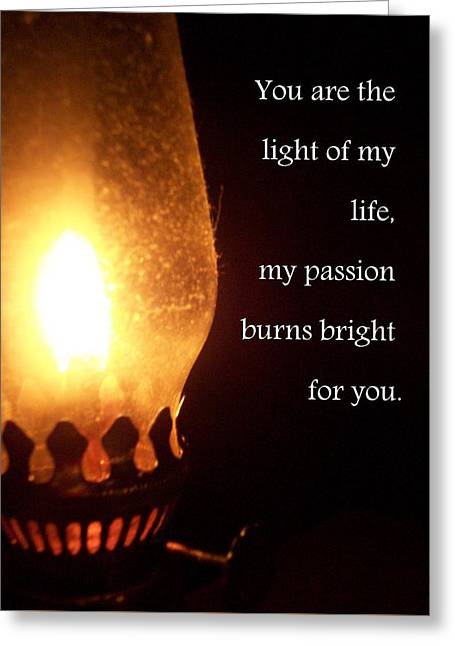 Light Of My Life Greeting Card by Katie Burris