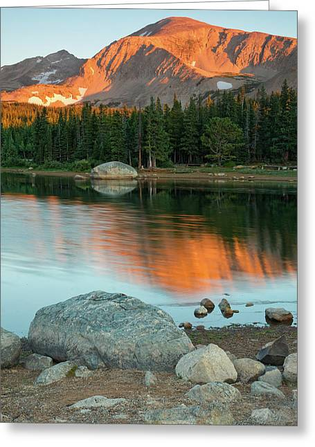 Light Of The Mountain Greeting Card